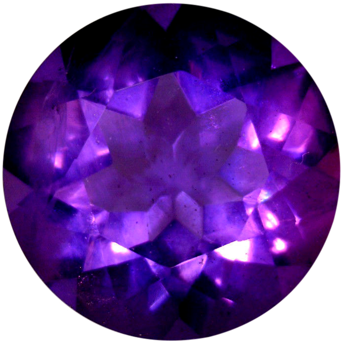 Natural Fine Deep Russian Purple Amethyst - Round - Russia - Top Grade - NW Gems & Diamonds