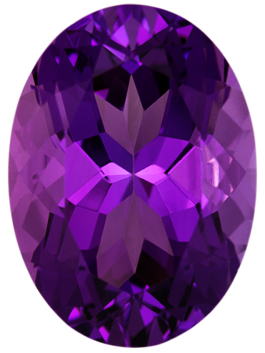 Natural Fine Rich Royal Purple Amethyst - Oval - Brazil - AAA Grade