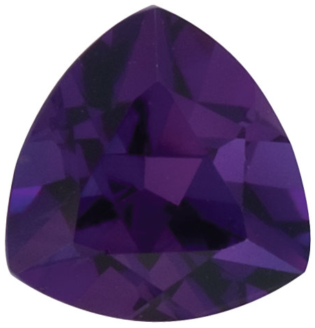 Natural Fine Deep Purple Amethyst - Trillion - Zambia - Top Grade - NW Gems & Diamonds