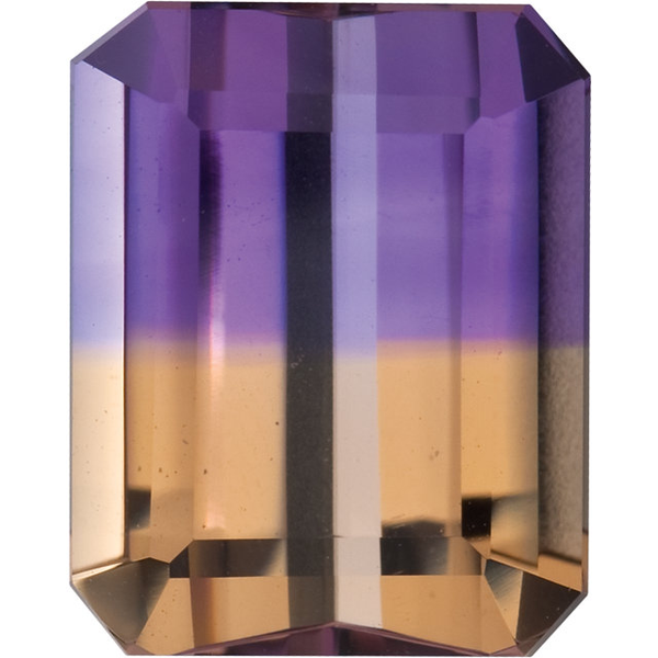 Natural Fine Ametrine - Emerald Cut - Bolivia - Top Grade - NW Gems & Diamonds