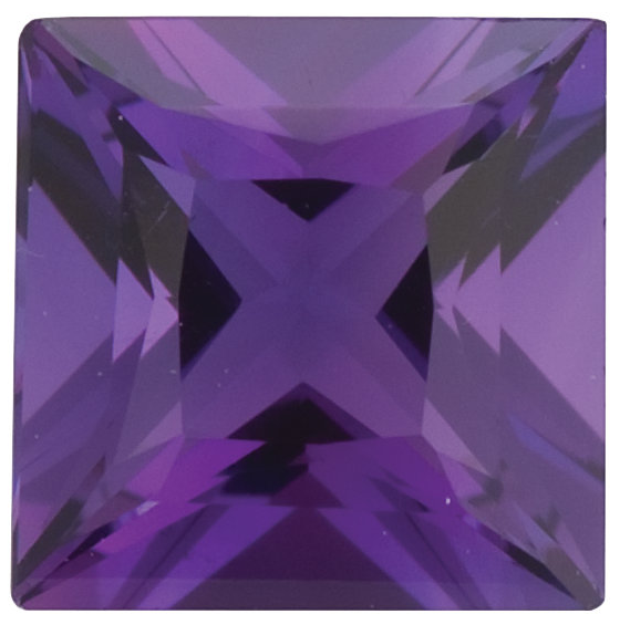 Natural Fine Purple Amethyst - Square Princess - Brazil - Top Grade - NW Gems & Diamonds