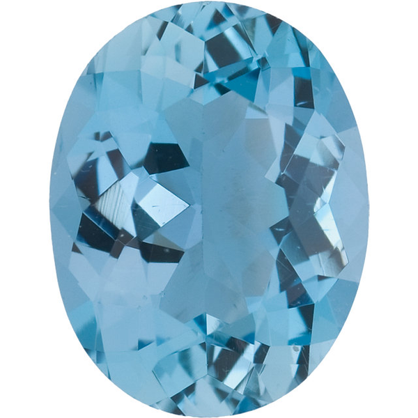 Natural Fine Blue Aquamarine - Oval - Zambia - Top Grade - NW Gems & Diamonds