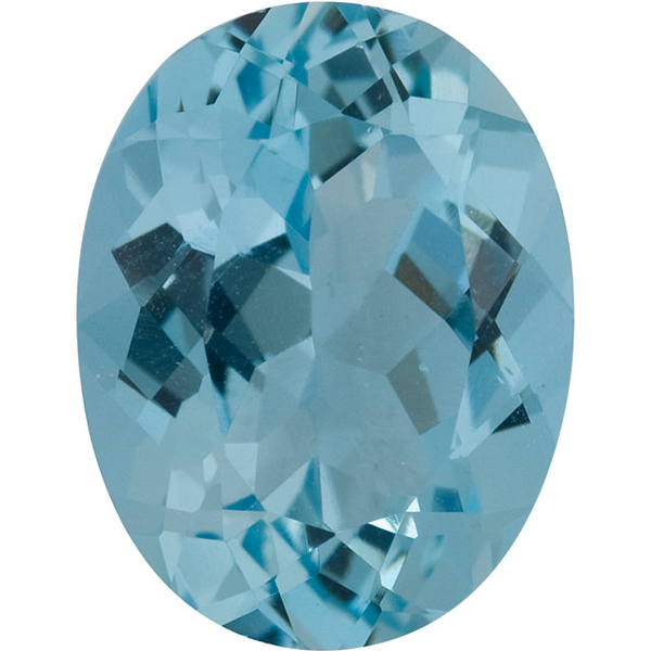 Natural Fine Medium Blue Aquamarine - Oval - Brazil - Select Grade - NW Gems & Diamonds