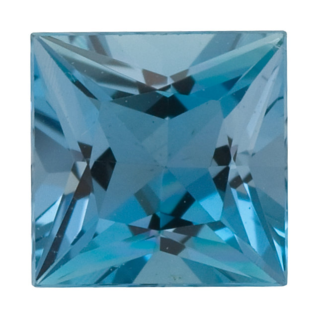 Natural Fine Blue Aquamarine - Square Princess - Brazil - Top Grade - NW Gems & Diamonds