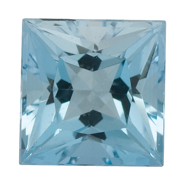 Natural Fine Medium Blue Aquamarine - Square Princess - Brazil - Select Grade - NW Gems & Diamonds