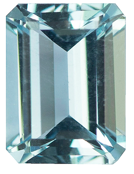 Natural Fine Light Sky Blue Aquamarine - Emerald Cut - Zambia - Select Grade - NW Gems & Diamonds