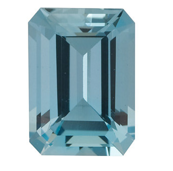 Natural Fine Medium Blue Aquamarine - Emerald Cut - Brazil - Select Grade - NW Gems & Diamonds