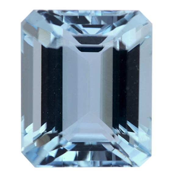 Natural Fine Blue Aquamarine - Emerald Cut - Zambia - Top Grade - NW Gems & Diamonds
