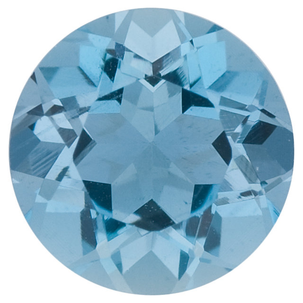 Natural Fine Blue Aquamarine - Round - Brazil - Top Grade - NW Gems & Diamonds