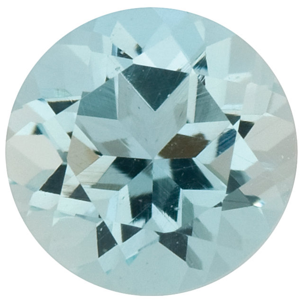 Natural Fine Light Blue Aquamarine - Round - Brazil - Select Grade - NW Gems & Diamonds
