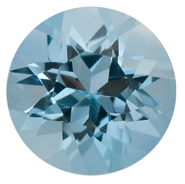 Natural Fine Medium Blue Aquamarine - Round - Brazil - Select Grade - NW Gems & Diamonds