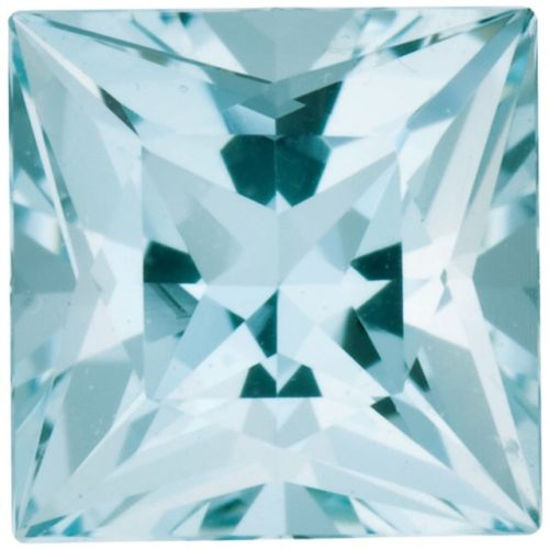 Natural Fine Light Blue Aquamarine - Square Princess - Brazil - Select Grade - NW Gems & Diamonds