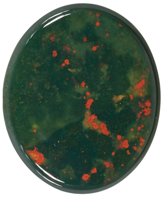 Natural Extra Fine Bloodstone - Oval Buff Top Cabochon - Australia - AAA+ Grade