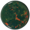 Natural Extra Fine Bloodstone - Round Cabochon - Australia - AAA+ Grade