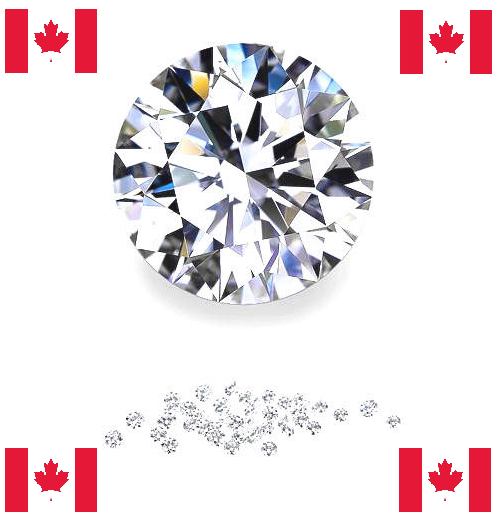 Natural Very Finest Canadian Diamond Melee - Round - VVS2-VS1 - E-F - Precision Cut - Canada