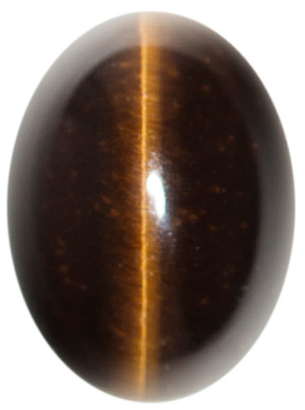 Natural Extra Fine Deep Gold Bronze Cat's Eye - Oval Cabochon - South Africa - AAA+ Grade