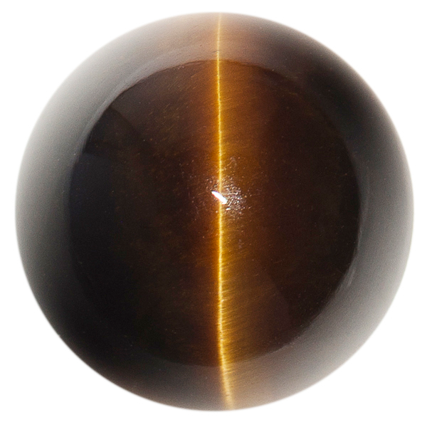 Natural Extra Fine Deep Bronze Tiger's Eye - Round Cabochon - South Africa - AAA+ Grade