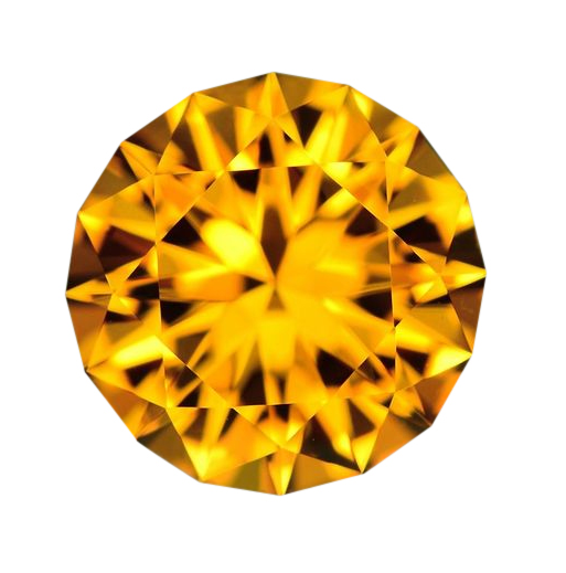 10mm Natural Fine Golden Orange Citrine - Round Master Cut AAA+ - Brazil - Extra Fine Grade - NW Gems & Diamonds