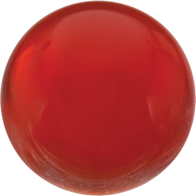 Natural Fine Orange Red Carnelian - Round Cabochon - Uruguay - Top Grade - NW Gems & Diamonds