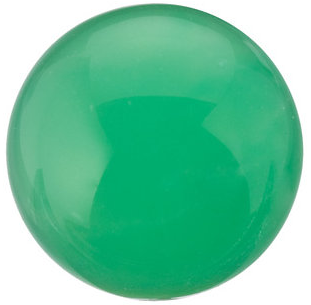 Natural Fine Apple Green Chrysoprase - Round Cabochon - Brazil - Top Grade - NW Gems & Diamonds