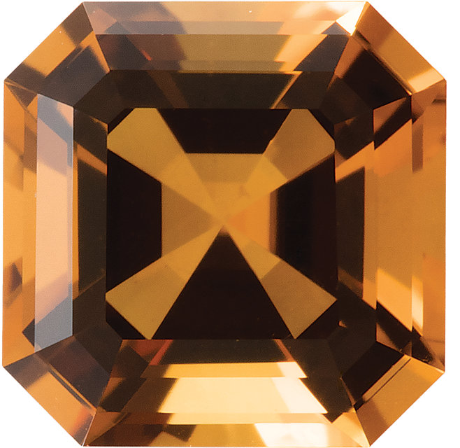 Natural Extra Fine Yellow Gold Citrine - Asscher Cut - Brazil - AAA+ Grade
