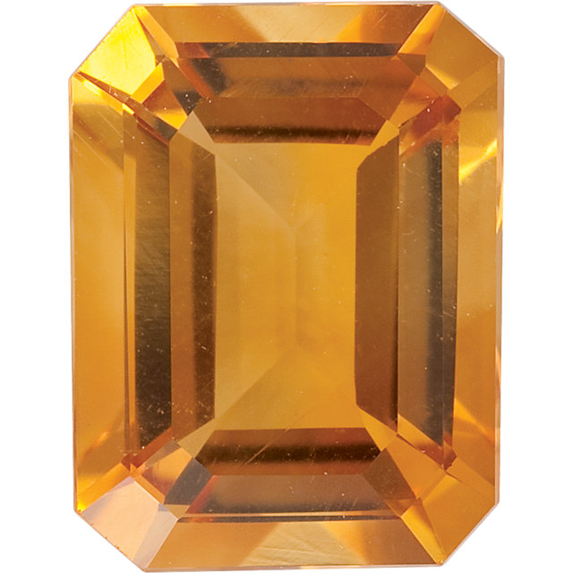 Natural Fine Orange Gold Citrine - Emerald Cut - Brazil - AAA Grade