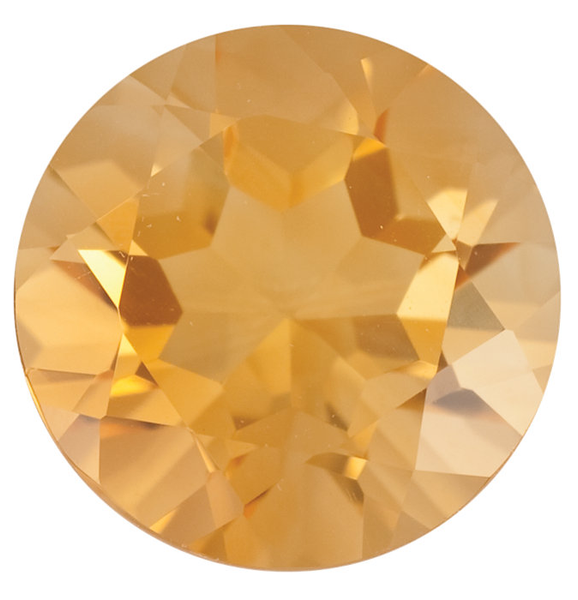 Natural Fine Rich Yellow Gold Citrine - Round - Brazil - Top Grade - NW Gems & Diamonds