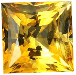Natural Fine Golden Yellow Citrine - Square Princess - Tanzania - Top Grade - NW Gems & Diamonds