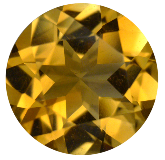 Natural Fine Rich Gold Yellow Citrine - Round - Zambia - Top Grade - NW Gems & Diamonds