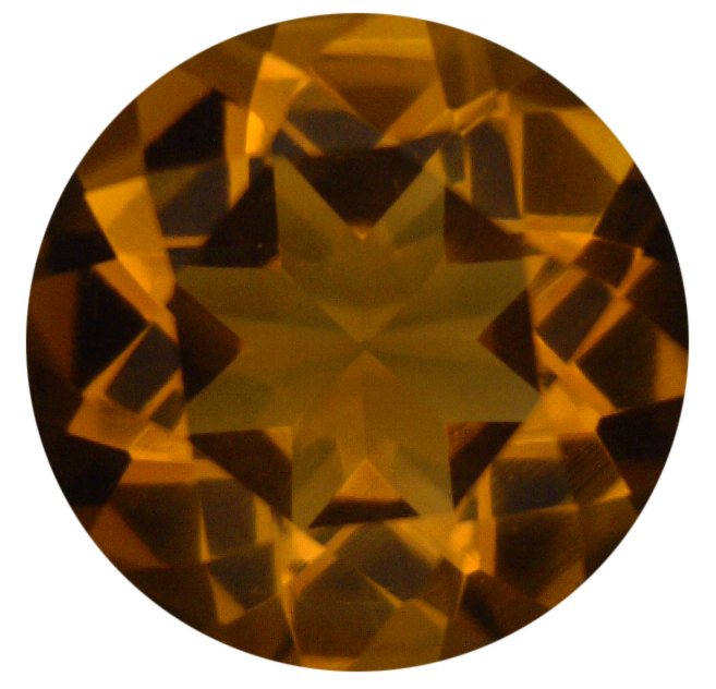 Natural Fine Burnt Orange Gold Madeira Citrine - Round - Brazil - Top Grade - NW Gems & Diamonds