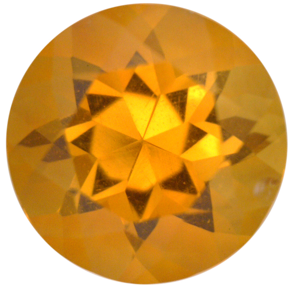 Natural Fine Deep Glowing Yellow Gold Citrine - Round - Bolivia - Top Grade - NW Gems & Diamonds