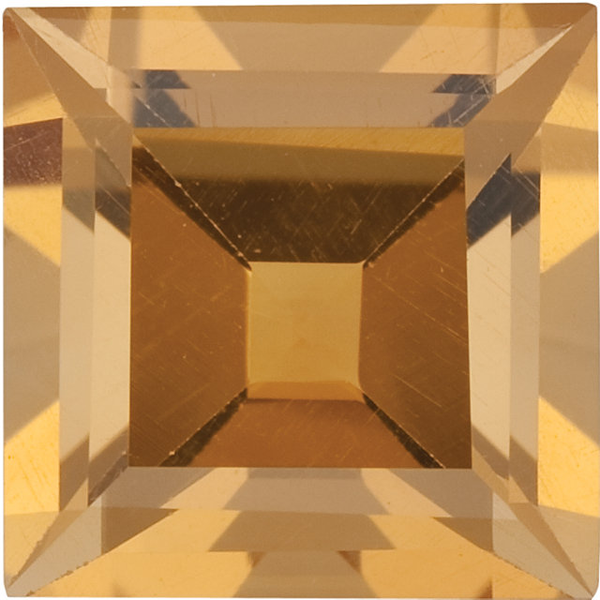 Natural Fine Rich Yellow Gold Citrine - Square Step - Brazil - Select Grade - NW Gems & Diamonds