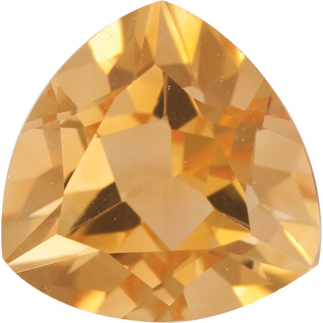 Natural Fine Yellow Gold Citrine - Trillion - Brazil - Top Grade - NW Gems & Diamonds