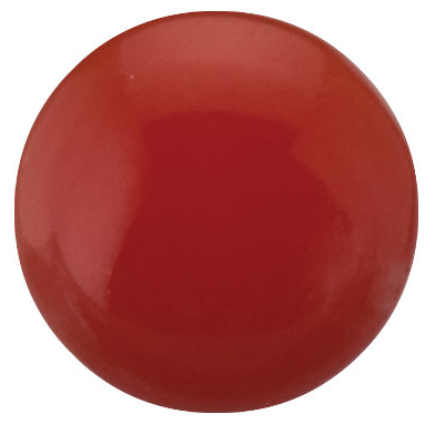 Natural Extra Fine Ox Blood Salmon Coral - Round Cabochon - Australia - AAA+ Grade