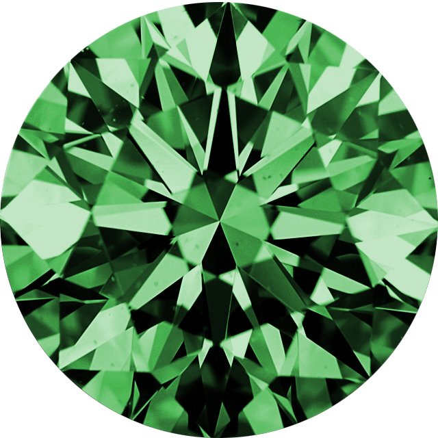 Natural Extra Fine Green Diamond - Round - VVS2-VS1 - Africa - Extra Fine Grade