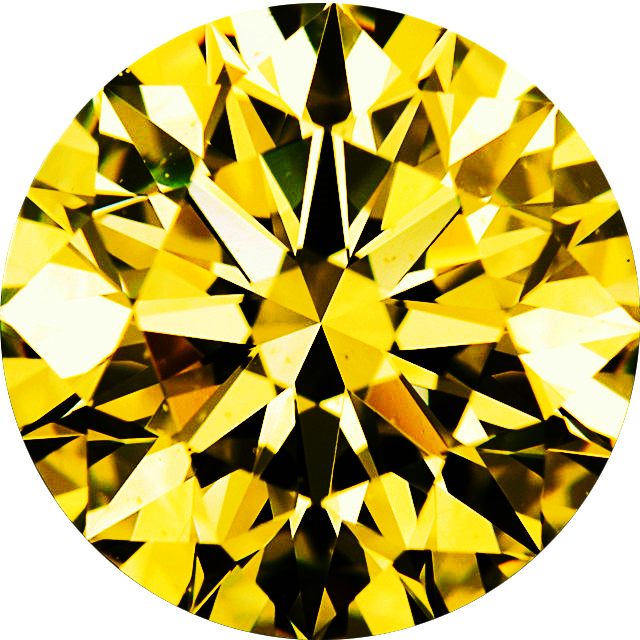 Natural Extra Fine Yellow Diamond - Round - VVS2-VS1 - Africa - Extra Fine Grade