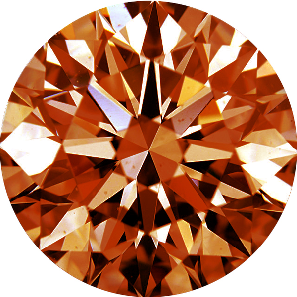 Natural Extra Fine Orange Cognac Diamond - Round - VVS2-VS1 - Africa - Extra Fine Grade