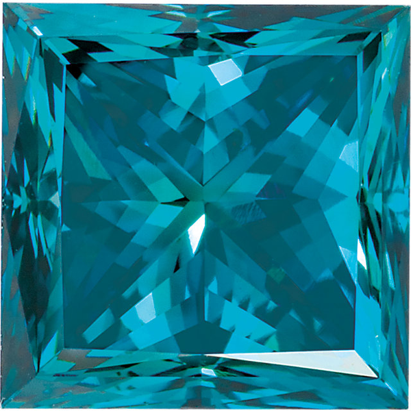 Natural Extra Fine Teal Blue Diamond - Square Princess - VS2-SI1 - Africa - Extra Fine Grade