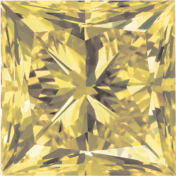 Natural Extra Fine Yellow Diamond - Square Princess - VS2-SI1 - Africa - Extra Fine Grade