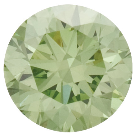 Natural Fine Apple Green Diamond - Round - VS2-SI1 - Africa - NW Gems & Diamonds