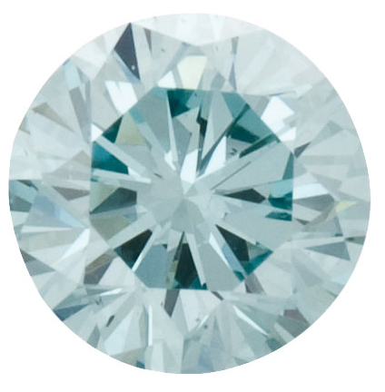 Natural Fine Aqua Blue Diamond - Round - VS2-SI1 - Africa - NW Gems & Diamonds