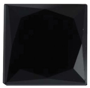 Natural Fine Black Diamond - Square Princess - AAA Grade - Africa