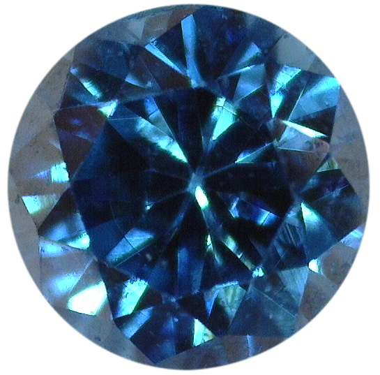 Natural Extra Fine Rich Teal Blue Diamond - Round - VS2-SI1 - Africa - Extra Fine Grade