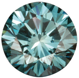 Natural Fine Teal Blue Diamond - Round - VS2-SI1 - Africa - NW Gems & Diamonds