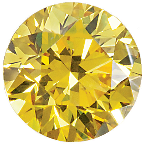 Natural Extra Fine Canary Yellow Diamond - Round - VS2-SI1 - Africa - Extra Fine Grade