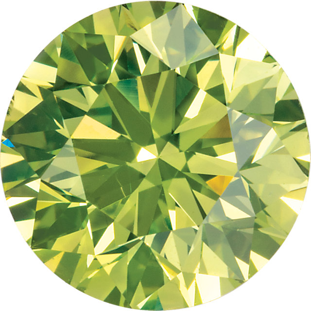 Natural Extra Fine Vivid Apple Green Diamond - Round - VS2-SI1 - Africa - Extra Fine Grade
