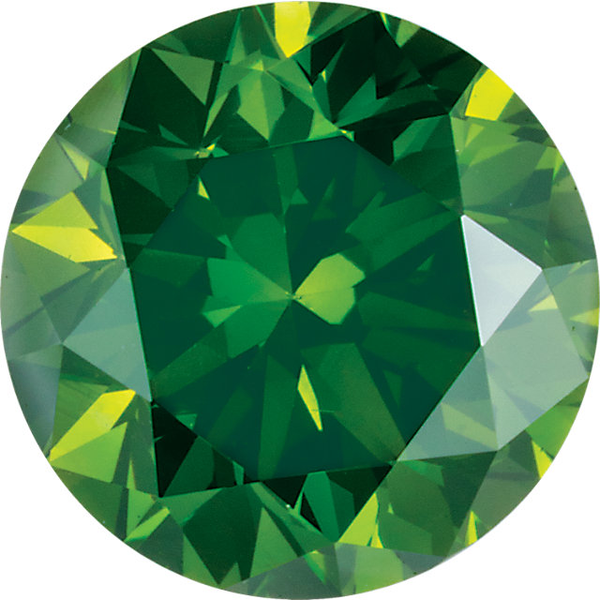 Natural Extra Fine Rich Green Diamond - Round - VS2-SI1 - Africa - Extra Fine Grade