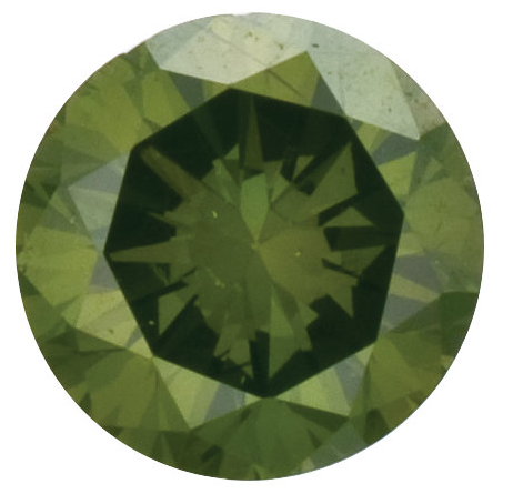 Natural Fine Deep Green Diamond - Round - VS2-SI1 - Africa - NW Gems & Diamonds