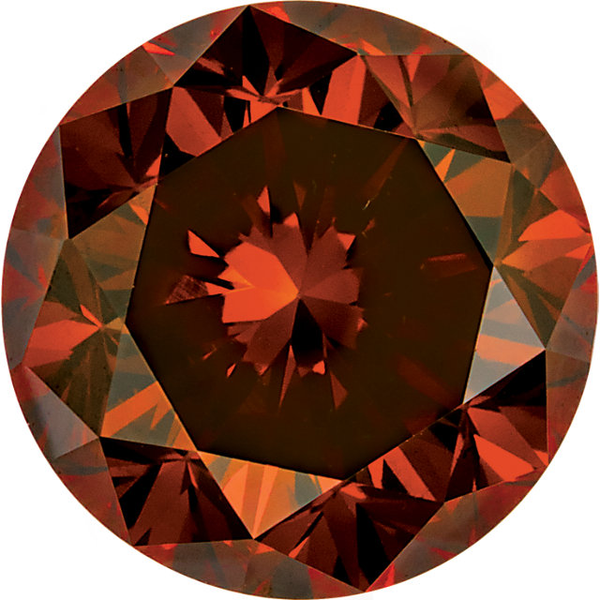 Natural Extra Fine Burnt Orange Diamond - Round - VS2-SI1 - Africa - Extra Fine Grade