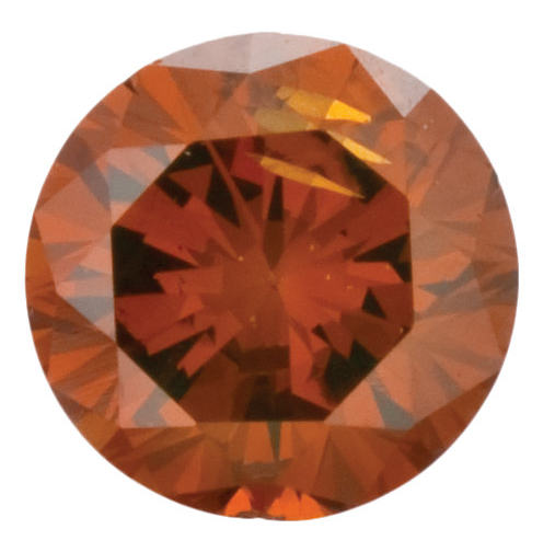 Natural Fine Deep Orange Diamond - Round - VS2-SI1 - Africa - NW Gems & Diamonds